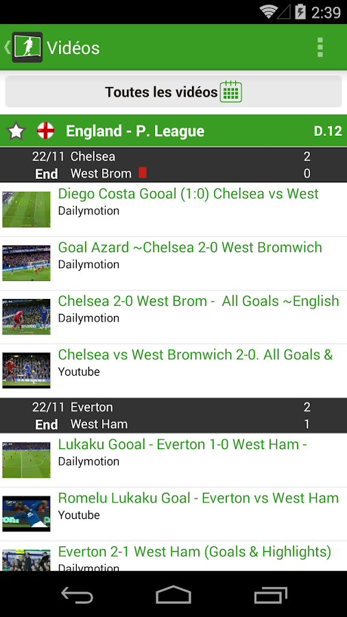all football live scores