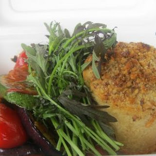 Baked Goats Cheese with Tomato Vinaigrette Recipe