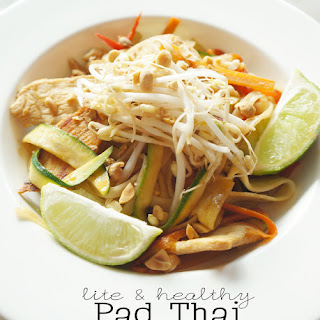 Lite and Healthy Pad Thai.