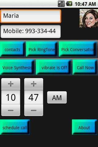 Fake Call maker lite - screenshot
