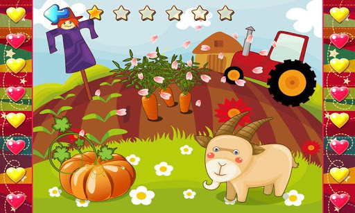 宝宝开心农场动物园拼图 - 多彩农场风光,识动物学英语