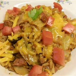 Cajun Cabbage with Rice.