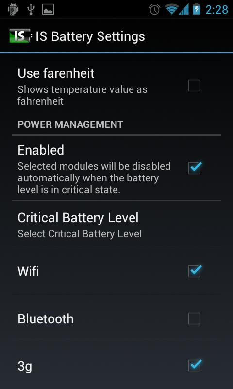 IS Battery Saver - screenshot