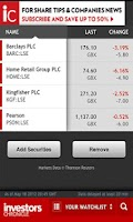 Screenshot of Investors Chronicle App