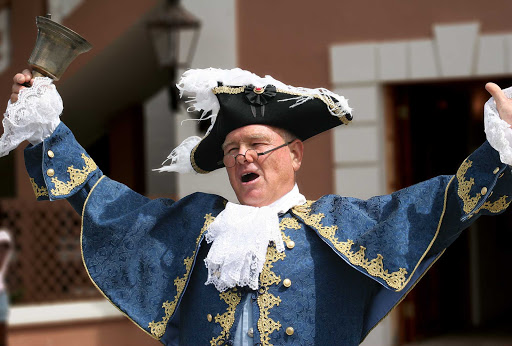 town-crier-Bermuda - The town crier makes a proclamation in St. George's, Bermuda.