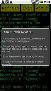 SG Traffic News- screenshot thumbnail