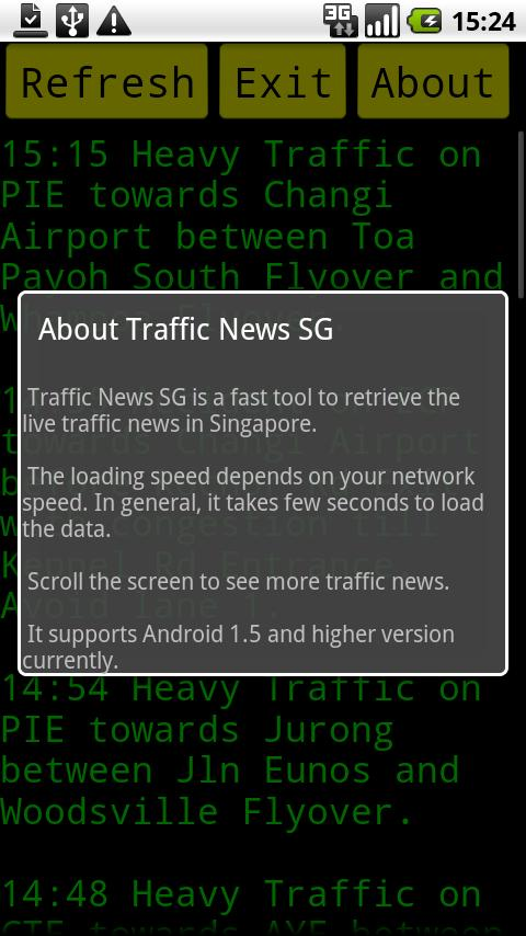 SG Traffic News- screenshot