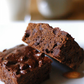 Dark Chocolate Fudge-Almond Brownies.