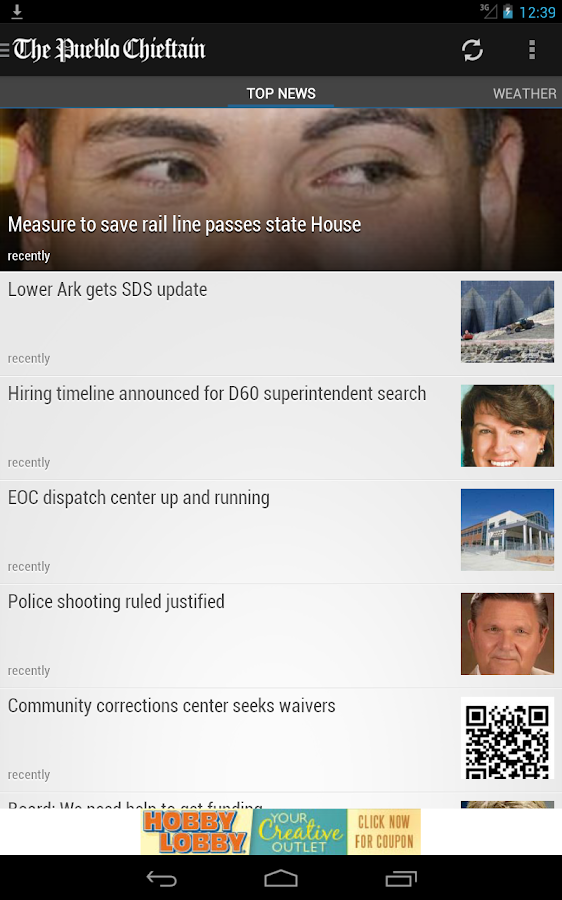 Pueblo Chieftain mobile - screenshot