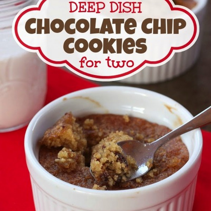 Gluten-Free Deep Dish Chocolate Chip Cookies for Two