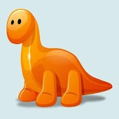 Baby English and Dinosaur