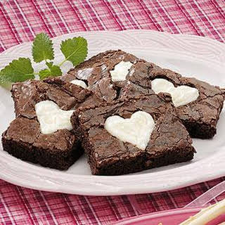 Valentine Brownies.