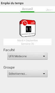Emploi du temps Univ Nantes - screenshot thumbnail