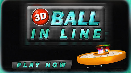 3D BALL IN LINE
