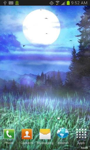 Full Moon Night Live Wallpaper