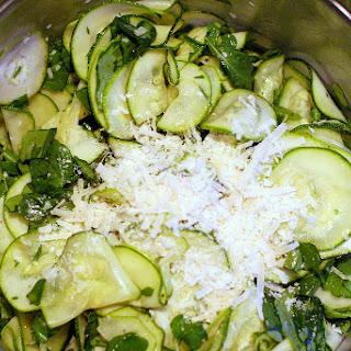 Zucchini Carpaccio Salad.