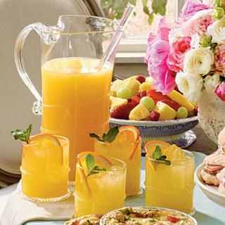 Sparkling Ginger-Orange Cocktails