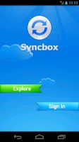 Screenshot of Syncbox