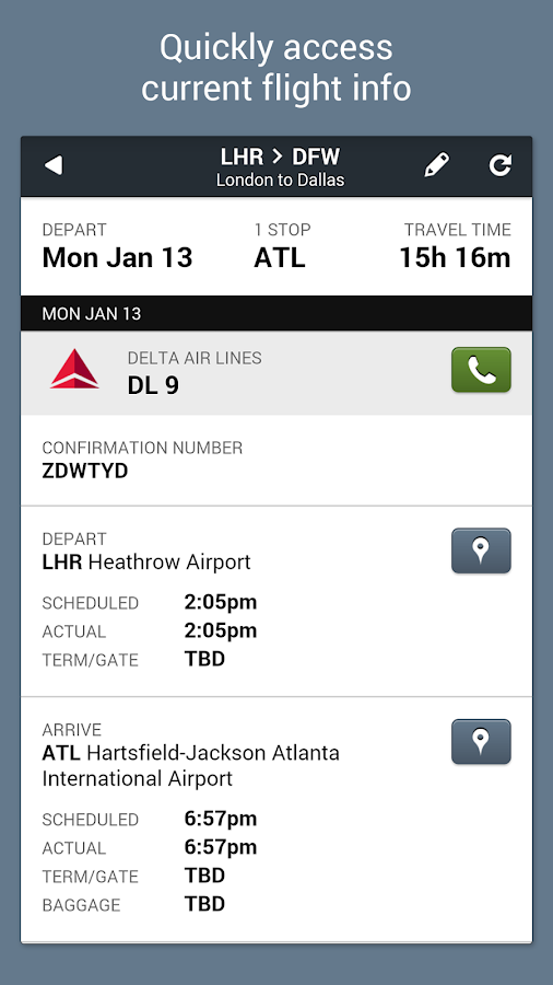 TripCase Travel Alerts - screenshot
