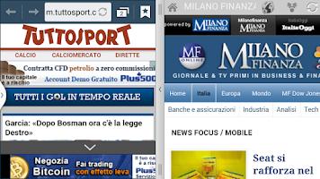 Screenshot of Italia newspapers