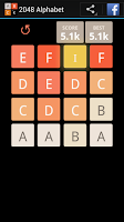 Screenshot of 2048 Alphabet