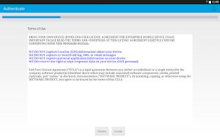 Screenshot of AirWatch Agent