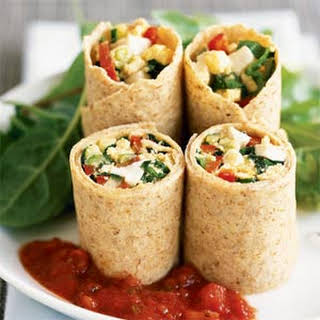 Egg and Vegetable Wrap.