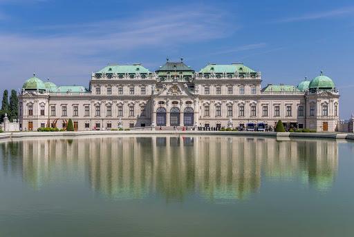 palace-Vienna-Austria - Upper Belvedere Palace in Vienna, Austria.