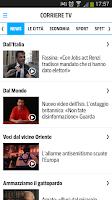 Screenshot of Corriere della Sera Mobile