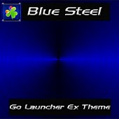 Go Launcher Blue Steel Theme