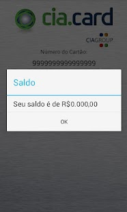 Cia.Card - Consulta de Saldo- screenshot thumbnail