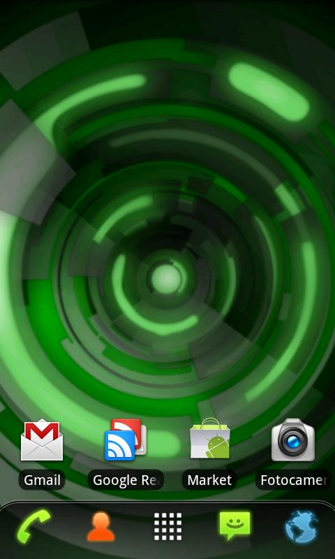 RLW Theme Black Green Tech - screenshot