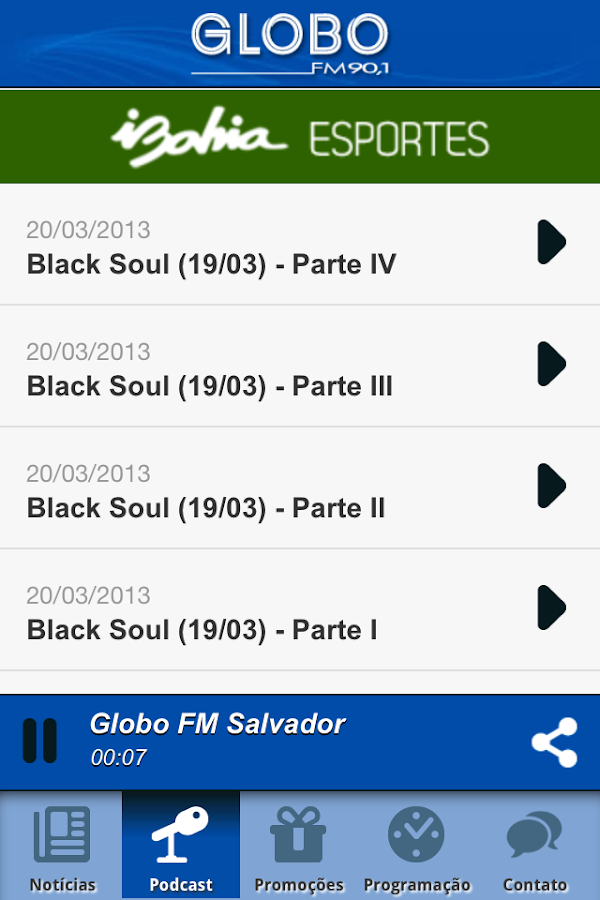 Globo FM Salvador - screenshot