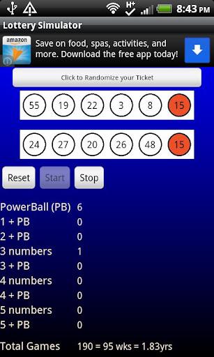 Lottery Simulator