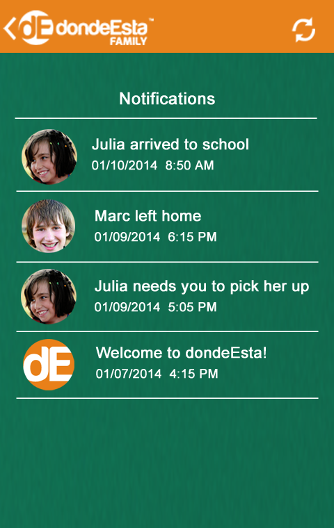 dondeEsta Family Locator - screenshot