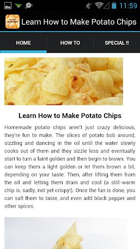 Make Homestyle Potato Chips