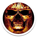 Color Hellfire Skull LWP icon