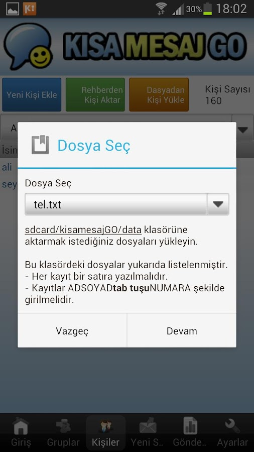 KISA MESAJ GO- screenshot