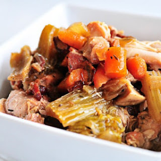 Slow Cooker Chunky Chicken Vegetable Soup.