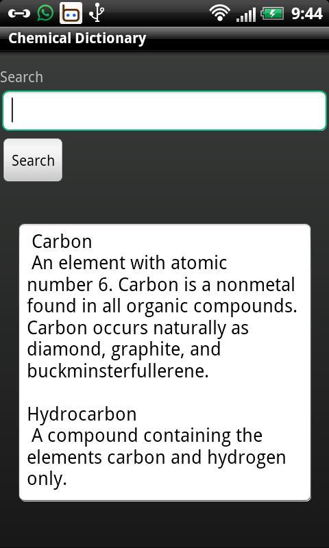 Chemical Dictionary- screenshot