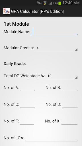 GPA Calculator [RP's Edition]