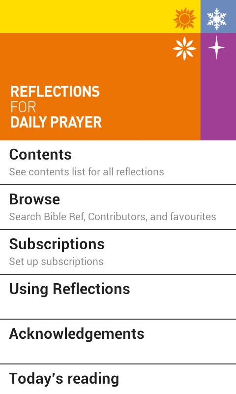 Reflections for Daily Prayer- screenshot