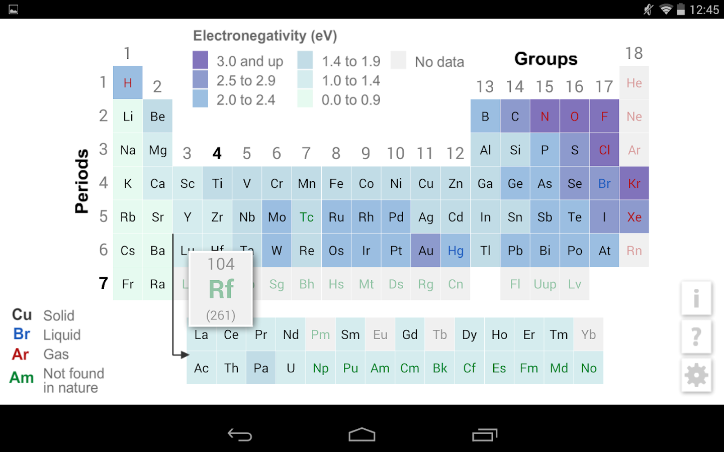K12 periodic table android apps on google play k12 periodic table screenshot gamestrikefo Images