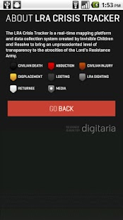 LRA Crisis Tracker - screenshot thumbnail