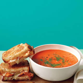 Tomato Soup with Bacon Grilled Cheese.