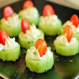 Stuffed Cucumber Bites.