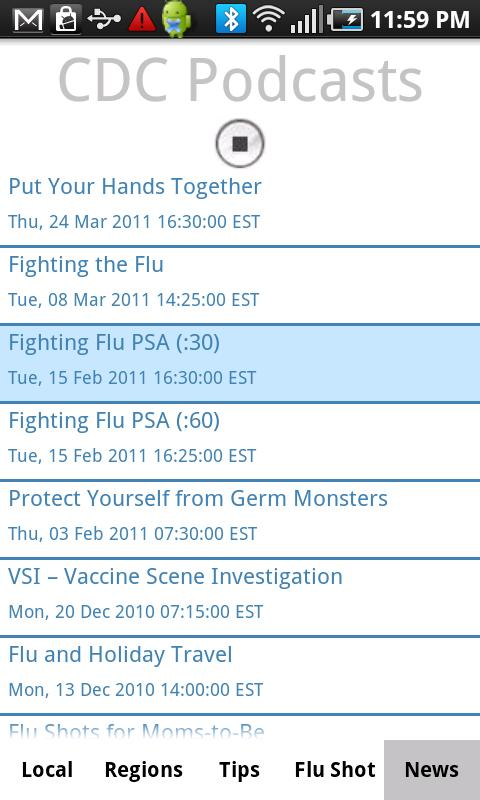 Flu Tracker - screenshot