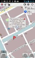 Screenshot of OsmAnd-Parking Plugin