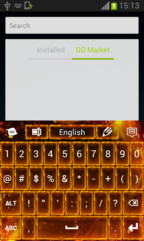 Flame Keyboard - screenshot