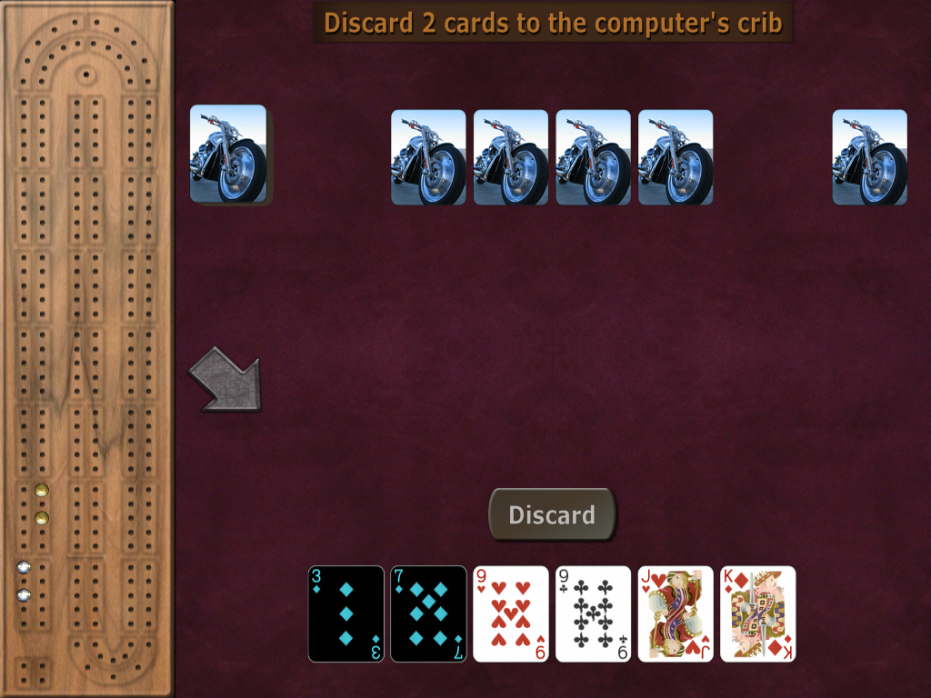 GrassGames' Cribbage- screenshot